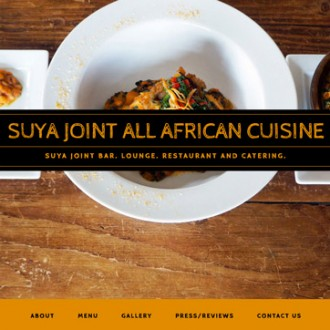 SUYA JOINT Website Re-design